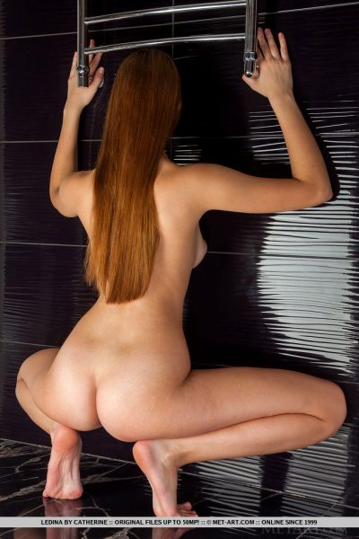 Ledina exposes her hot body with flexible and wide open poses