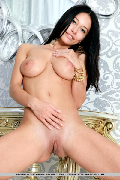 Superb girl Mila M has some perfect attributes